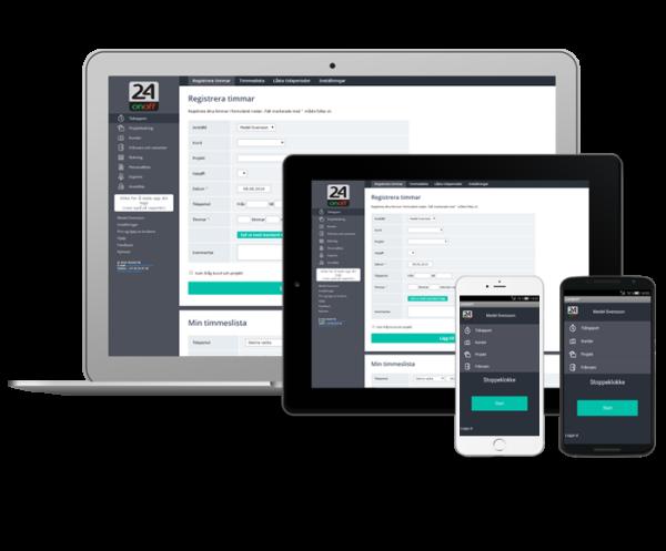 Tidrapportering online och mobil